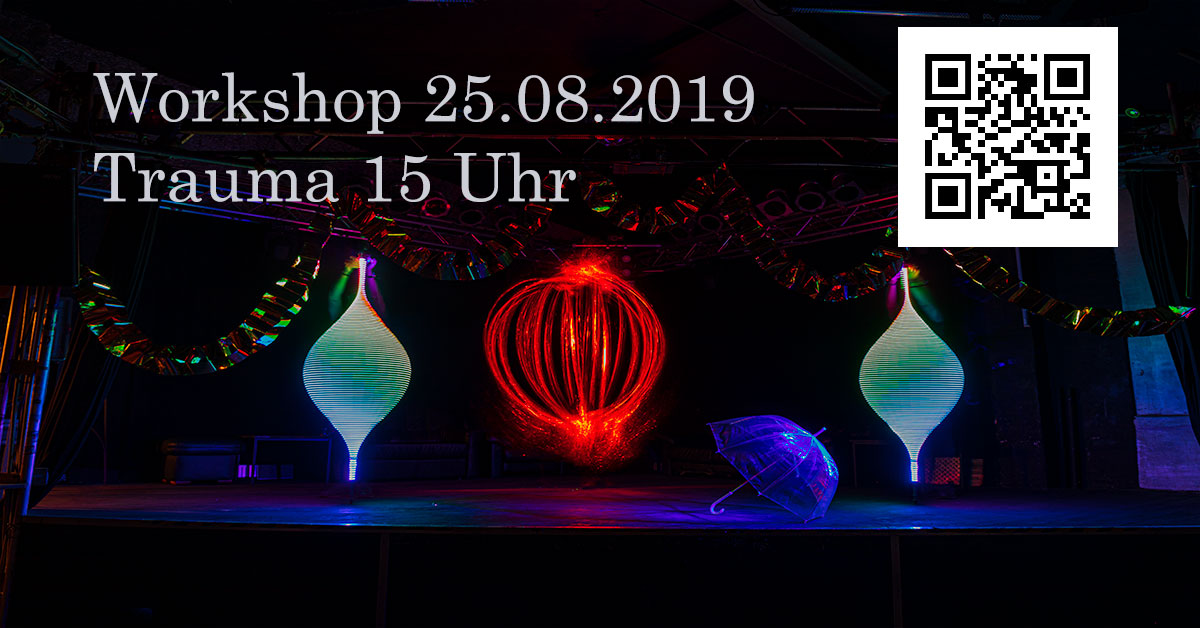 Lightpainting Workshop in der Trauma