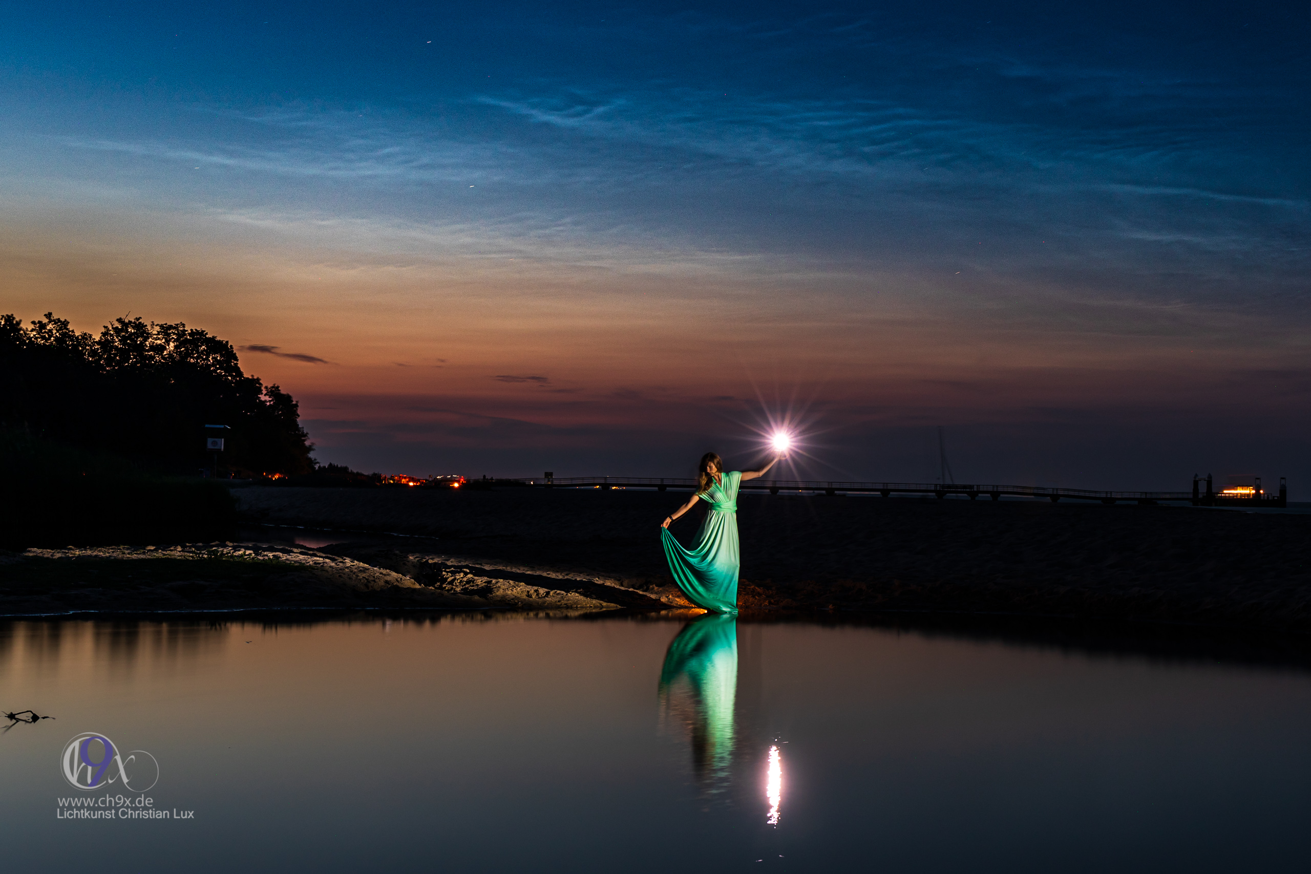 Lightpainting Fotoshooting an der Ostsee mit NLC